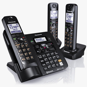 3d model of panasonic cordless telephone kx-tg7644m