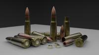 3d ak-47 cartrige HQ bullet