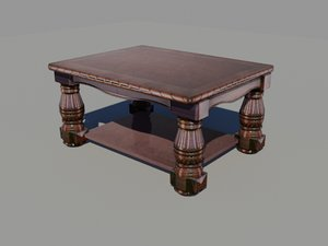 wooden coffee table max