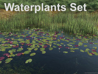 waterplants set 3d 3ds
