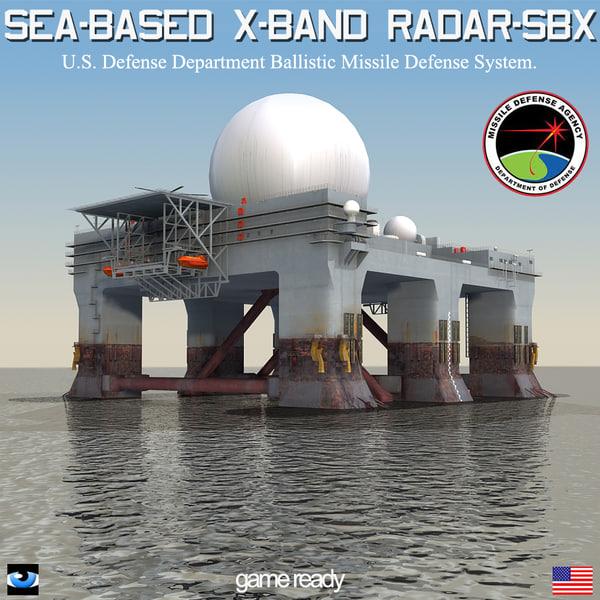 3d sbx-1 sea-based x-band radar