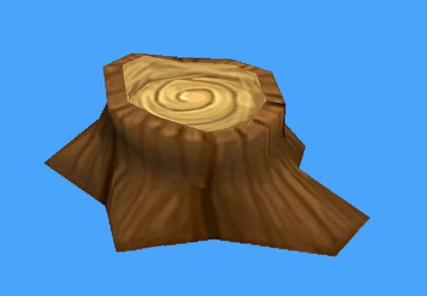 3d small tree stump model