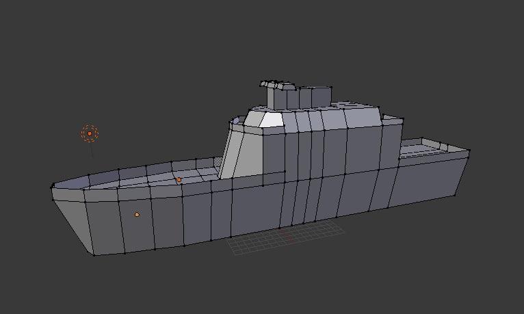 3d navy ship