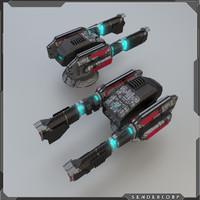 3d model of turret