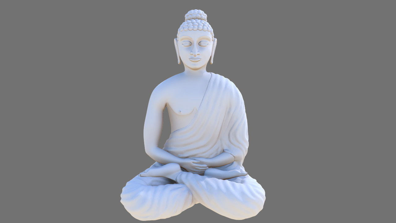 3d siting buddha