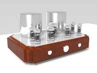 3d model of vacuum tube amplifier