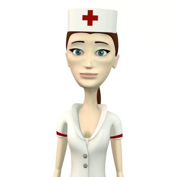 cindy nurse 3d obj