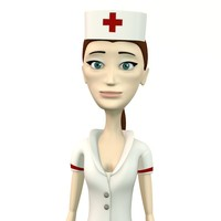 cindy nurse 3d obj