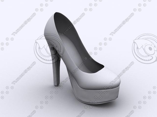3d model heel boot