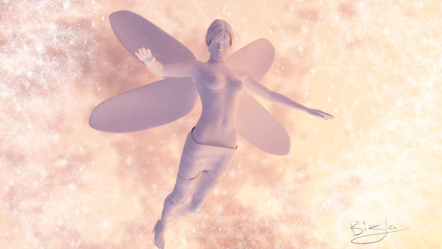 medium clay fairy rigged 3d obj
