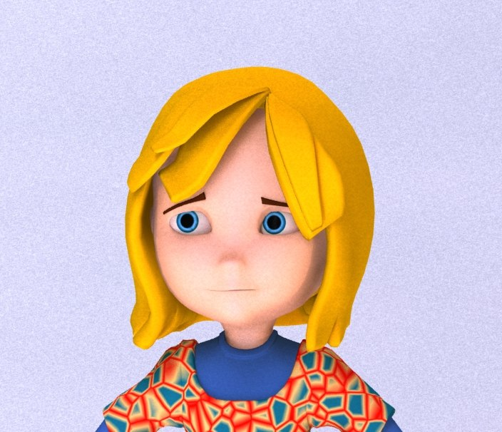3d cartoon character girl