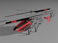 radio-controlled helicopter 3d model