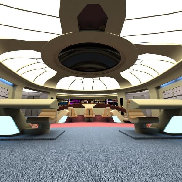 bridge uss enterprize 3d 3ds