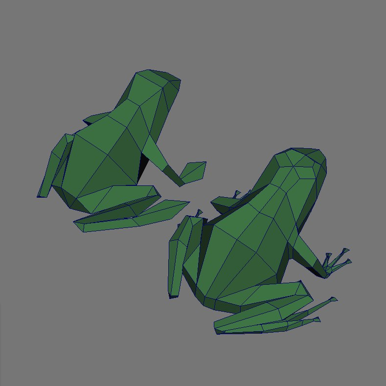 resolution frogs obj