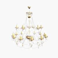 3d chandelier andrea big