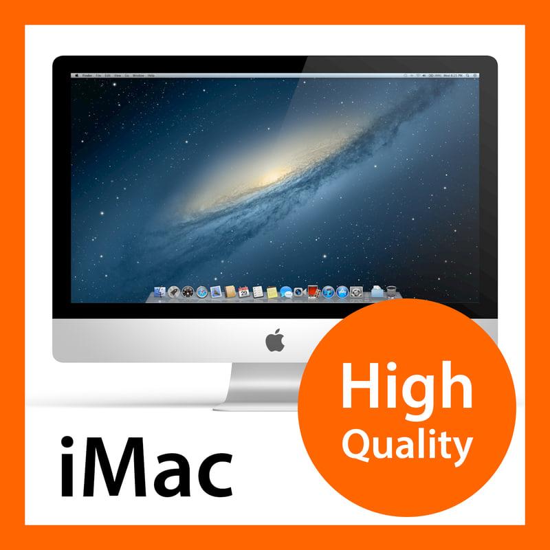 new apple imac 27 3d model