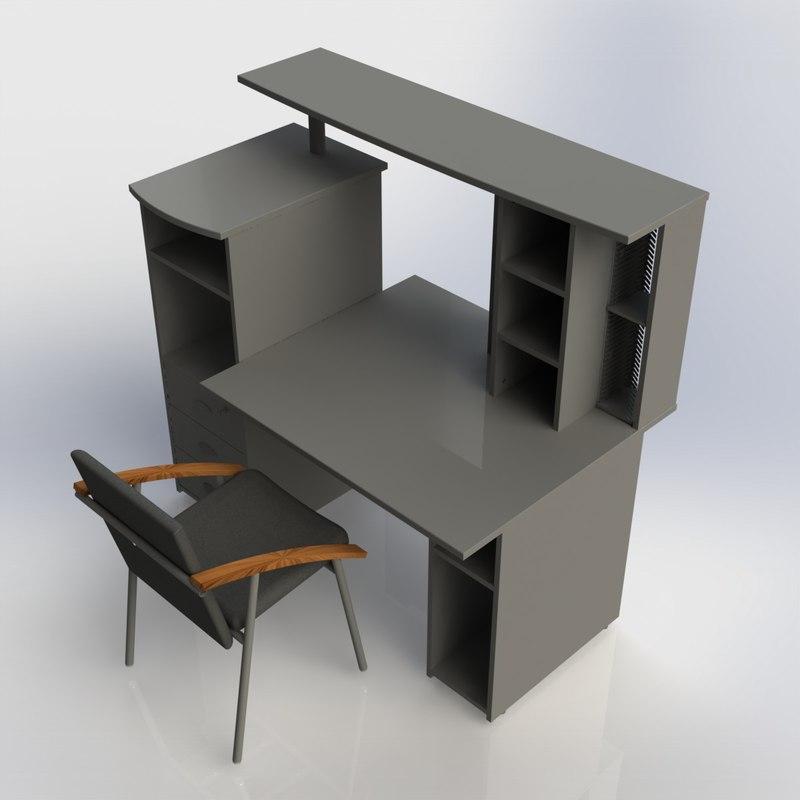3d furniture office home model