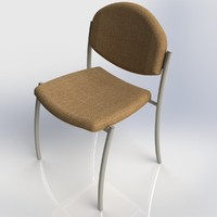 3d max chair stool furniture office
