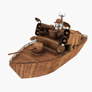 3ds max wooden ship
