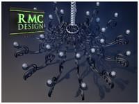 3d model of chandelier 25 rmc