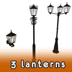 3d model street lanterns
