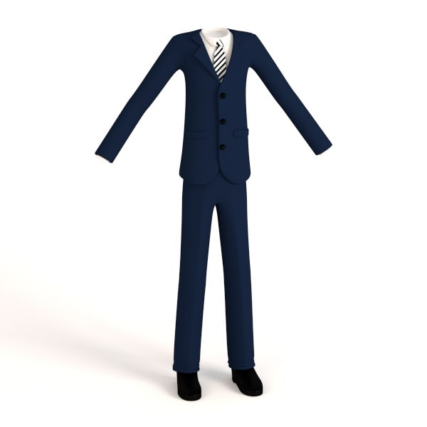 male suit cartoon 3ds