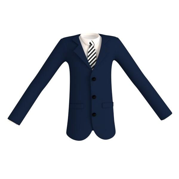 cartoon male jacket 3d model
