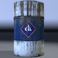 3dsmax industrial drum barrel oil