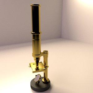 antique microscope 3d model