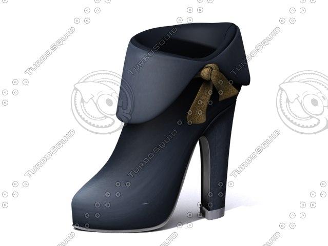 3d heel boot