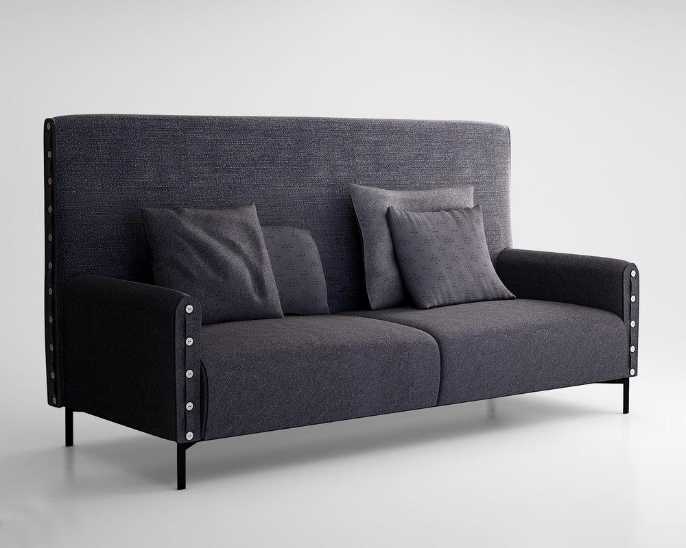tacchini life sofa 3d max