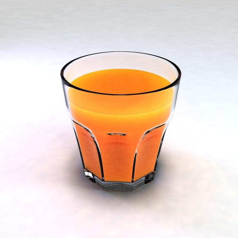 3ds max glass orange juice
