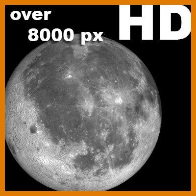 3d model moon incredible hd planets