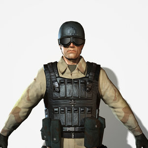 3d soldier delta force model