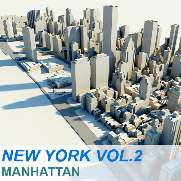 new york manhattan vol 3d c4d