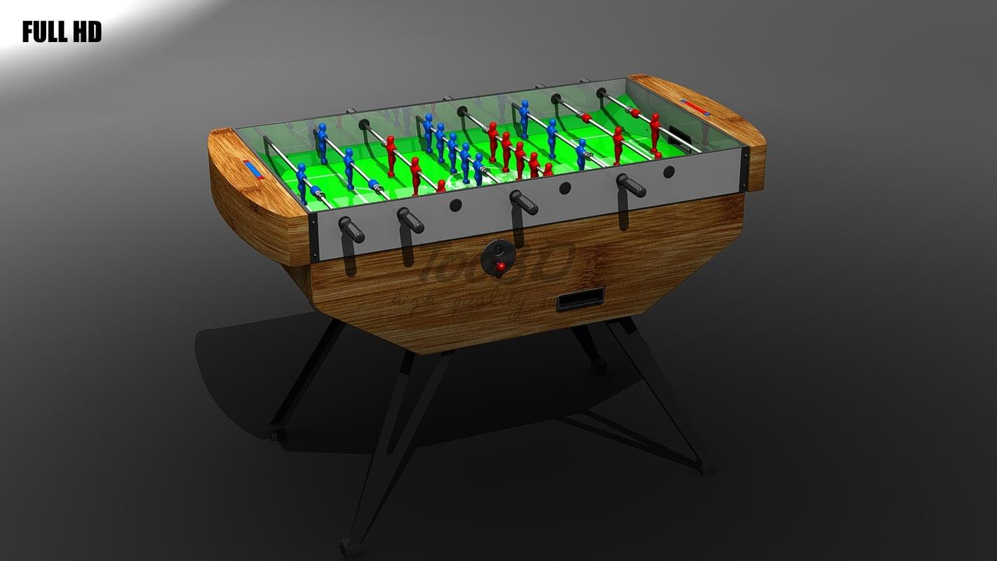 soccer table 3d model