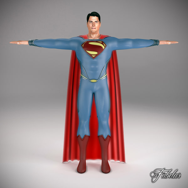 3ds max superman 2013 man