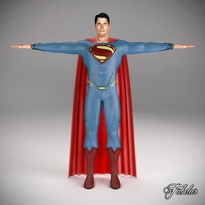 3ds max superman 2013 man