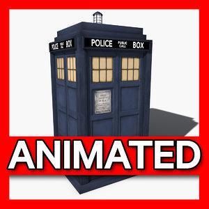 tardis animation 3d dxf