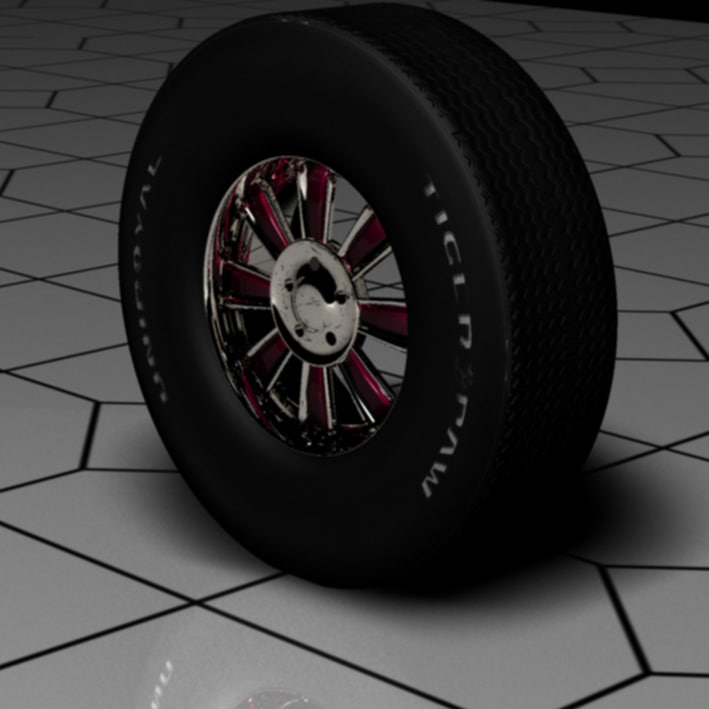 3d max chrome wheel tire
