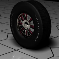 3d max chrome wheel tire
