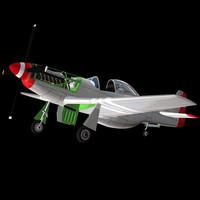 3ds max p51 fighter plane