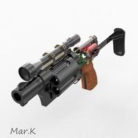 sci-fi colt 3d model