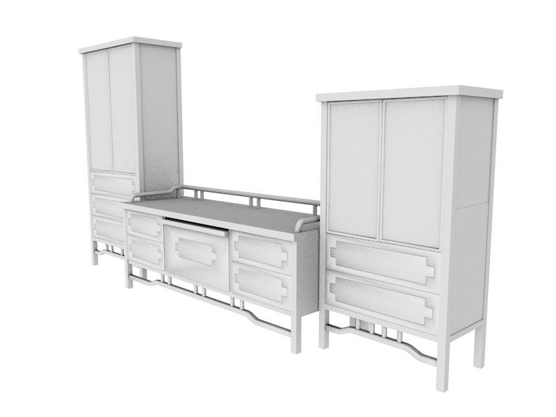 3d model tv rack