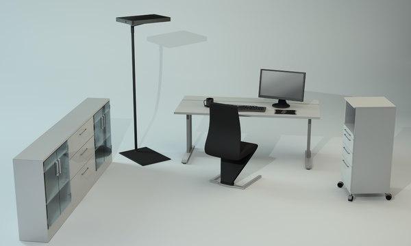 furniture office c4d