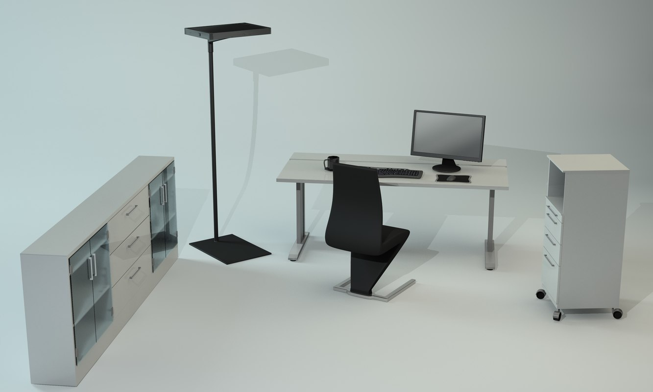 furniture office c4d