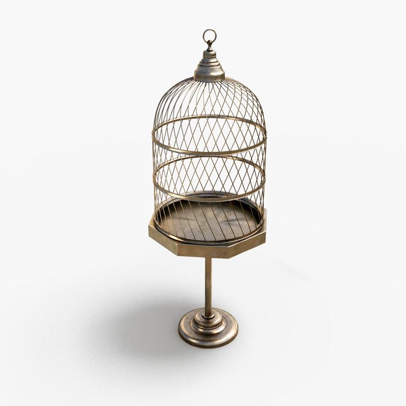 antique birdcage 3ds