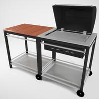 3d model garden grill modeled