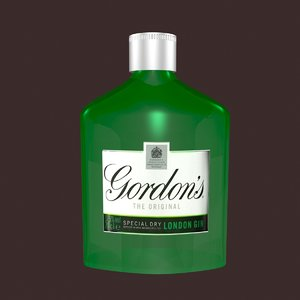 3ds max gin bottle
