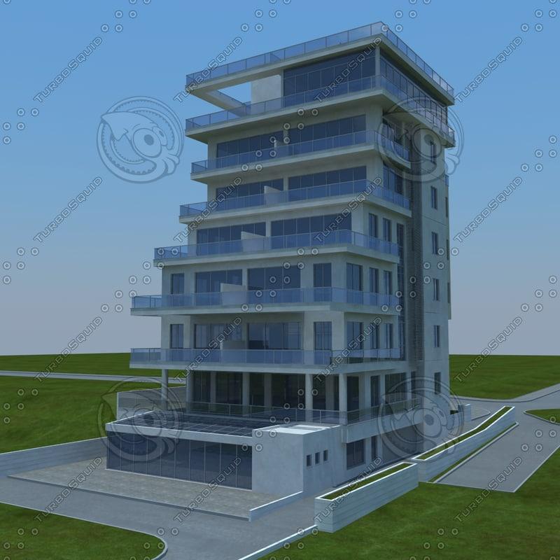 buildings 3d obj